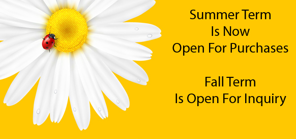Summer Term Open for Purchases