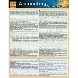 Image For BARCHARTS ACCOUNTING TERMINOLOGY