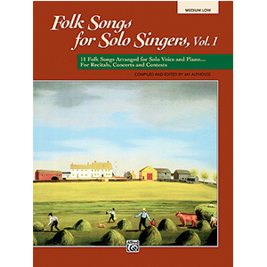 Cover Image For Folk Songs for Solo Singers, Vol 1 MEDIUM LOW