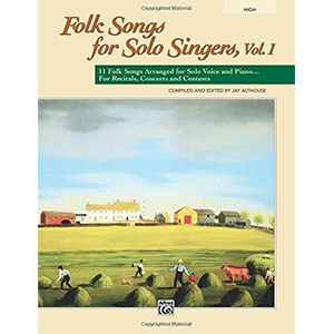 Cover Image For Folk Songs for Solo Singers, Vol. 1 HIGH