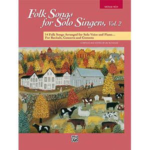 Cover Image For Folk Songs for Solo Singers, Vol 2 MEDIUM HIGH