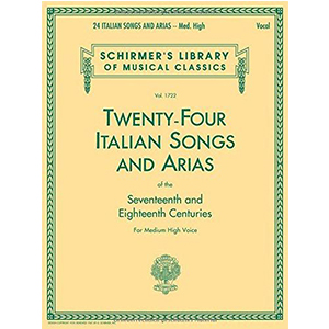 Cover Image For TWENTY FOUR ITALIAN SONGS AND ARIAS - MEDIUM HIGH VOICE