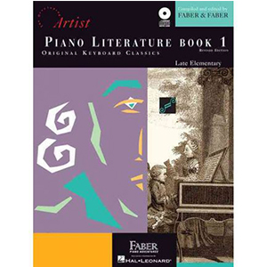 Cover Image For PIANO LITERATURE BOOK 1 AUDIO INCLUDED