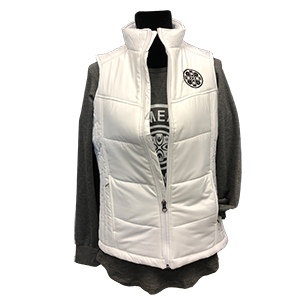 Cover Image For W-LADIES PUFFY VEST WHITE