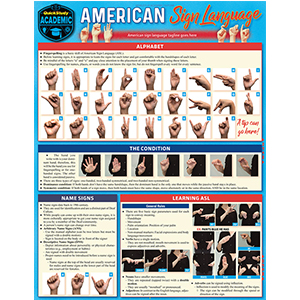 Image For BARCHARTS AMERICAN SIGN LANGUAGE