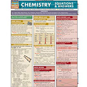 Image For BARCHART CHEMISTRY EQUATIONS