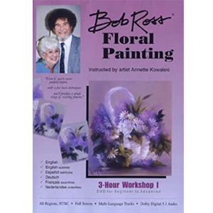Cover Image For BOB ROSS FLORAL PAINTING DVD