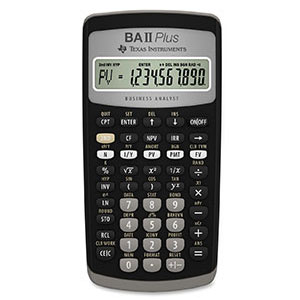 Cover Image For TI BA II PLUS CALCULATOR