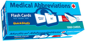 Image For MEDICAL ABBREVIATIONS FLASH CARDS