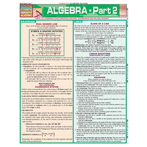 Image For BARCHARTS ALGEBRA 2