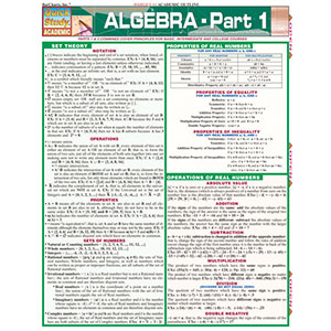Image For BARCHARTS ALGEBRA PART 1