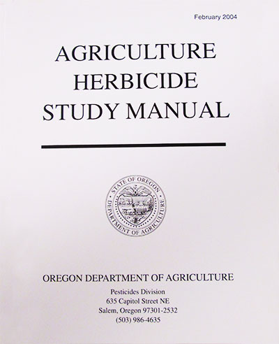 Cover Image For AGRICULTURE HERBICIDE STUDY MANUAL, ODA